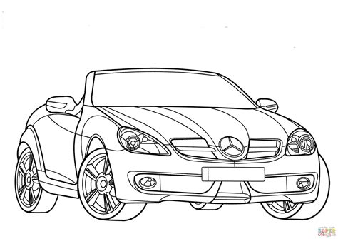 Mercedes-benz Slk-class Coloring Page