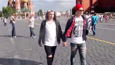 Russian Men Walk Around Holding Hands Social Experiment