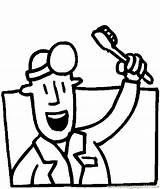 Dentist Coloring Printable Dental Clipart Dentista Para Colorear Drawings Doctors Pdf Resume Format Hygiene Dibujo Drawing Clip Peoples Cliparts Un sketch template