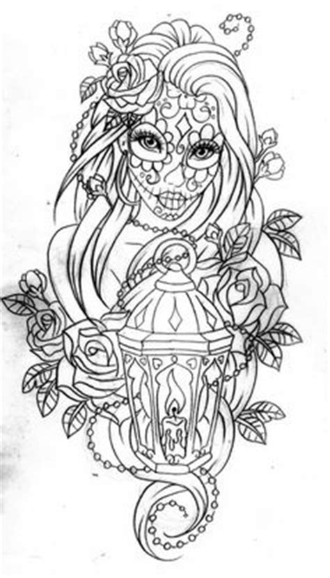 Free Print Doodle Pages | Day of the dead coloring page