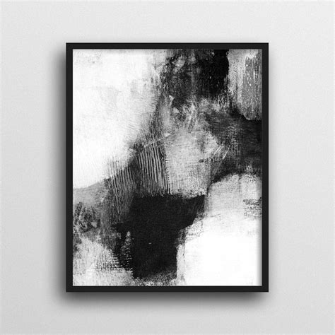 Abstract Black And White Wall by 2019 Popular Black And White Framed Wall