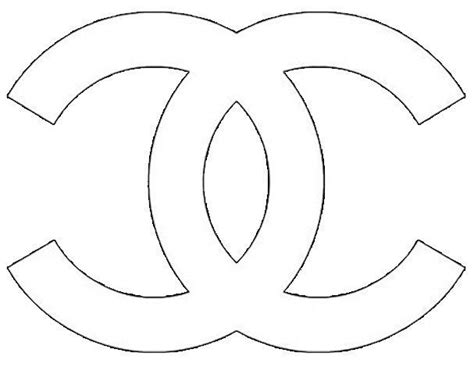 chanel logo stencil sketch coloring page  style