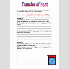 Heat Energy Transfer Worksheet By 1mightyhamster  Teaching Resources Tes