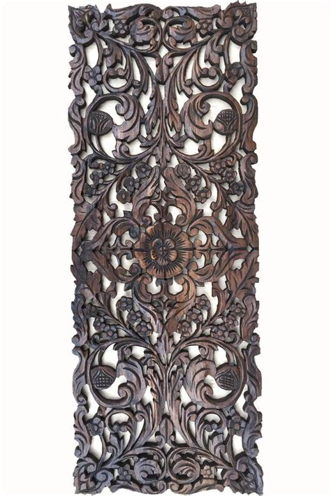floral wood carved wall panel asian home decor wall