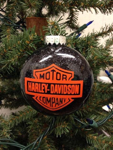 holiday christmas tree ornament harley davidson motor