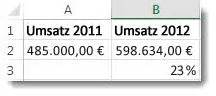 Umsatz Berechnen Excel : berechnen von prozentwerten excel ~ Themetempest.com Abrechnung