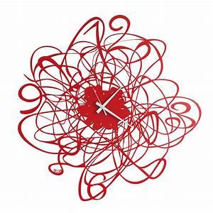 Horloge Murale Rouge : arti e mestieri horloge murale doodle rouge m tal ~ Teatrodelosmanantiales.com Idées de Décoration
