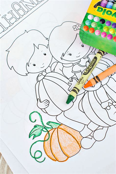 thanksgiving coloring pages crazy  projects