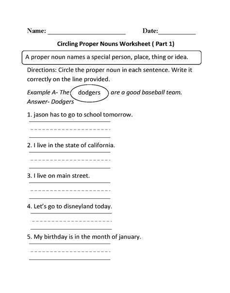 circling proper nouns worksheet part 1 educational ideas proper nouns worksheet nouns