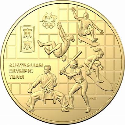 Coin Gold 50c Australian Olympic Plated Team