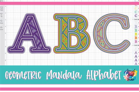 After an overwhelming amount of requests, i have now created a set of lowercase letters and a heart to compliment this set. LAYERED GEOMETRIC ALPHABET FREE SVG CUT FILE - Special ...