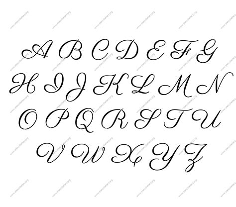 printable alphabet stencil letters template art