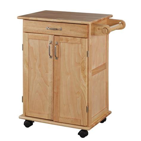 home styles chariot de cuisine en bois naturel home