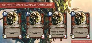 Hearthstone Patch 320 Warsong Commander Nerf