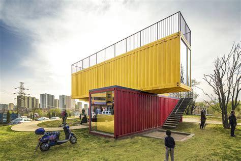 container bureau location container stack pavilion 39 s architecture arch2o com