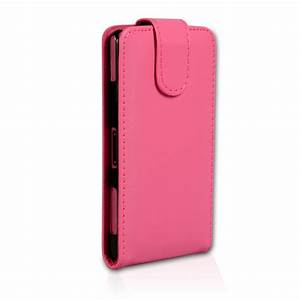 Sony Xperia Z1 Compact Leather-Effect Flip Case - Hot Pink