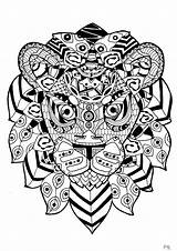 Lion Coloring Zentangle Pages Animals Lions Adult Adults Justcolor Print Impressive Nature Complex sketch template