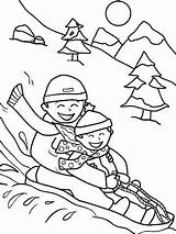 Coloring Sledding Pages Winter Printable Sheets Friends Potty Snow Worksheet Sled Christmas Activities Parents Printables Sheet Kindergarten Education Colouring Preschool sketch template
