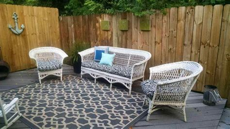 wicker furniture painting old spray best painted colors for outdoor metal patio and paint