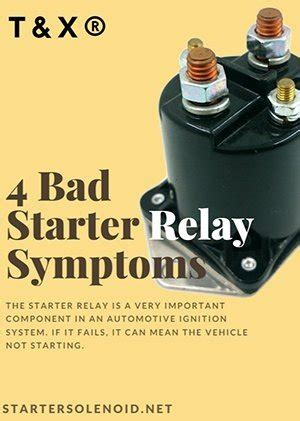 What Are The Symptoms Bad Starter Relay Quora