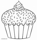 Cupcake Coloring Cupcakes Pages Printable Template Cool2bkids Cake Cakes Birthday Muffin Children Colouring Sheets Dibujo Templates Simple Easy Cookies Ice sketch template