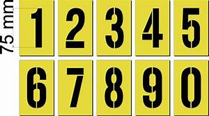 letter and number sets 75mm 0 to 9 number stencil set With stencil sets numbers letters