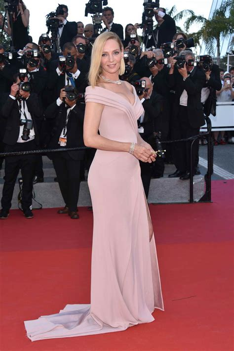 uma thurman at the red carpet of the 70th annual Cannes ...
