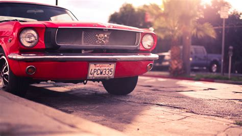 Ford Mustang Classic Red 4k Wallpaper #ford #mustang