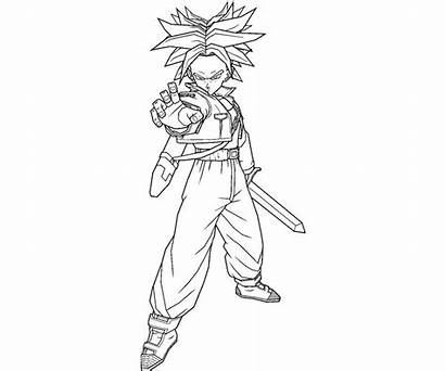 Trunks Coloring Future Pages Printable Getcolorings Random