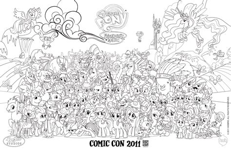Blank Mlp Comic Con Poster...for Coloring!!