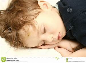 The Person Of The Sleeping Boy Stock Image