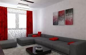 Wohnzimmer Bild Grau : bilder 3d interieur wohnzimmer rot grau 6 ~ Michelbontemps.com Haus und Dekorationen
