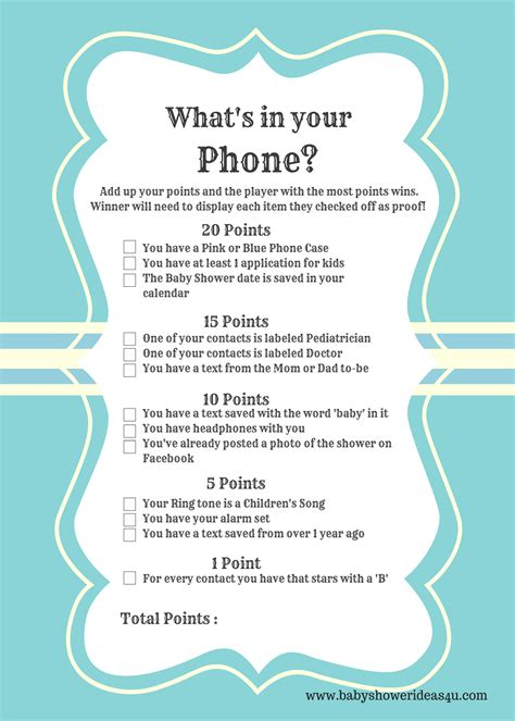 printable modern whats   phone baby shower