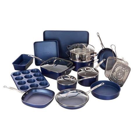 cookware classic aluminum infused bakeware durable stick ultra diamond piece non granitestone pieces number