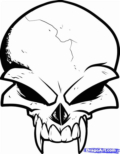 Image result for cool pictures to trace | Skull tattoo design, Simple skull drawing, Simple skull