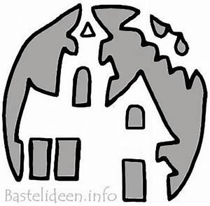 Halloween Kürbis Motive : halloweenbasteln spukhaus k rbis bastelvorlage f r k rbis ~ Markanthonyermac.com Haus und Dekorationen