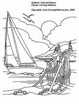 Burning Wood Patterns Carving Printable Pattern Relief Pyrography Coloring Nautical Sailboat Woodburning Beginners Designs Pages Lighthouse Woodworking Projects Fish Stencils sketch template