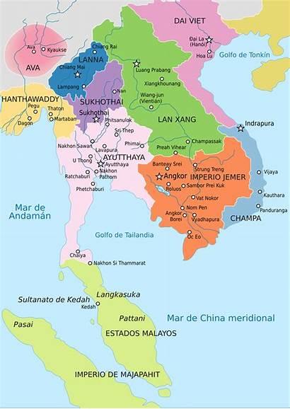 1400 Asia Map Southeast Ayutthaya Reino Ce