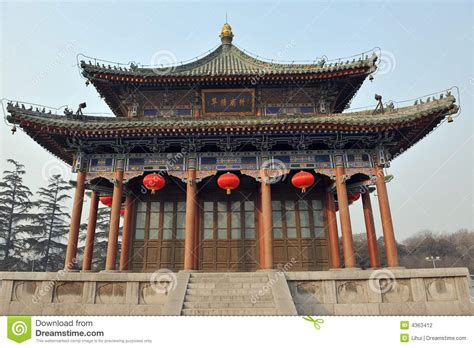 Chinese Architecture Stock Photo Image Of Tiles, Xian