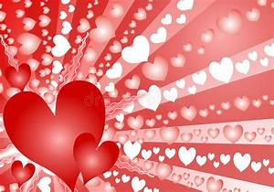 Colorful Valentine's Day Heart Background Stock ...