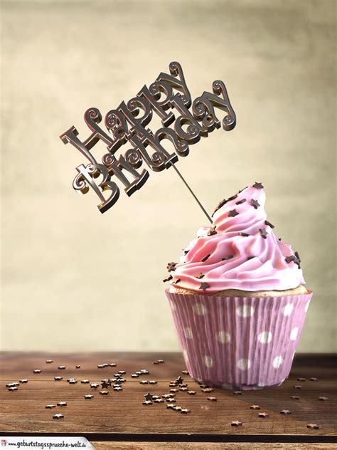 muffin geburtstagskuchen happy birthday