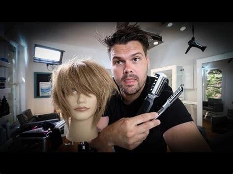 short layered bob haircut tutorial   razor
