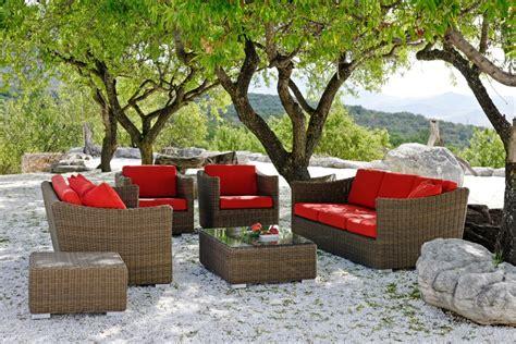Garten Lounge Wetterfest by Gartenlounge Aus Kunstrattan Alu Chromstahl Und Holz