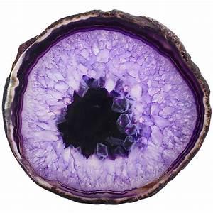 SUNYIK 1Lot (2Pcs) Purple Agate Slices Geode Stones