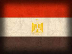 Egypt Flag Distressed Vintage Finish Mixed Media by Design