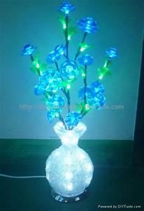 2014 Novelty NEW Round LED Crystal Acrylic Flower Vase