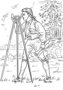 young george washington surveyor  mapmaker coloring page supercoloringcom