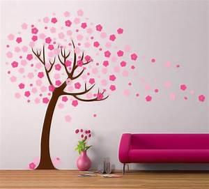 Wall decor cherry blossom tree decal modern handmade