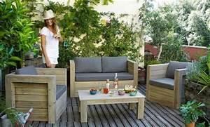 Salon Detente Jardin : un mini salon de jardin pour petit espace joli place ~ Premium-room.com Idées de Décoration