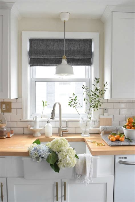 New Roman Shades In The Kitchen  Nesting With Grace